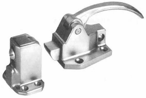 Refrigerator Door Handle and Latch - Stainless Steel